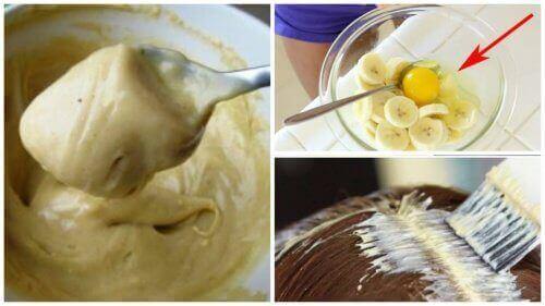 Banaani ja olut - loistava hiushoito