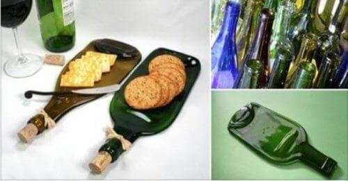 Kierrätä lasipullo kuumentamalla – saat mahtavan tarjoiluastian