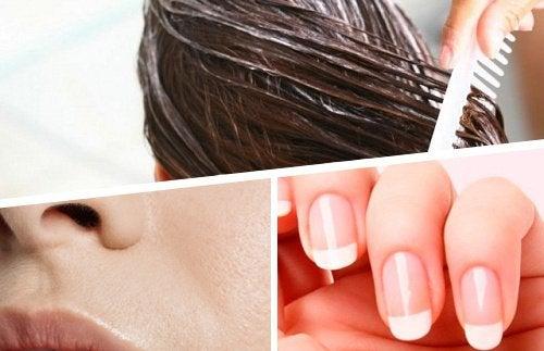 5 luonnollista ainetta kynsien, ihon ja hiusten kaunistamiseen