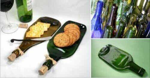 Kierrätä lasipullo kuumentamalla - saat mahtavan tarjoiluastian