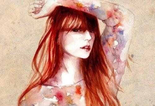 punahiuksinen nainen