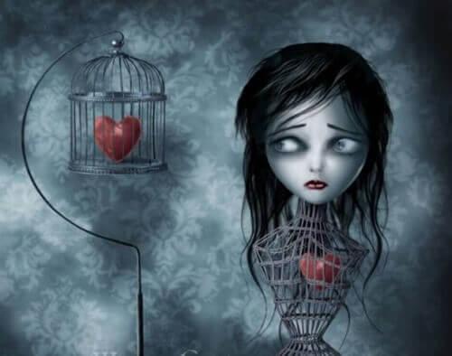 tytön sydän on häkissä