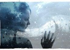Tyttö ja sateinen päivä