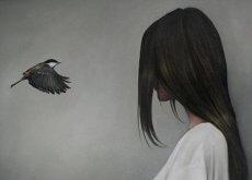 nainen-ja-lintu