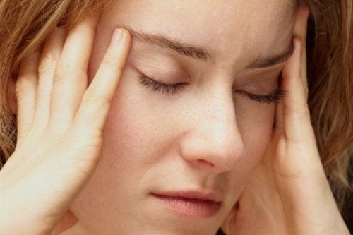 Stressiä naisella