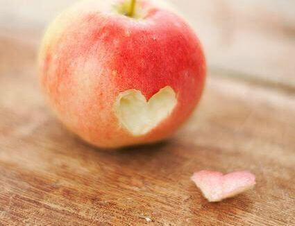 Omenasta haukattu sydänpala
