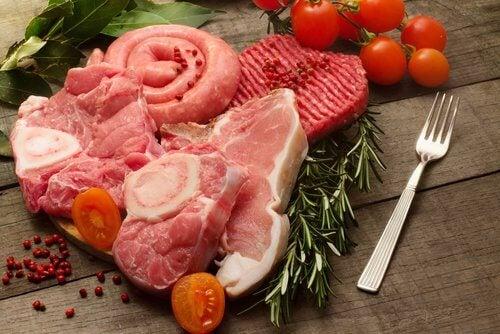 munuaiskiviä aiheuttava liha