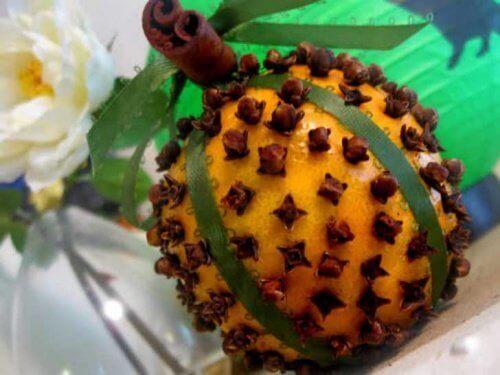 appelsiini ja mausteneilikat kärpästen karkottamiseksi
