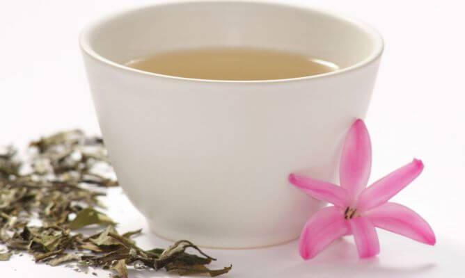 Valkoinen tee sisältää runsaasti antioksidantteja.