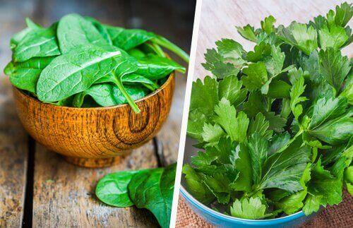 Maksan tervehdyttämiseksi on tärkeää nauttia vihreitä kasviksia.