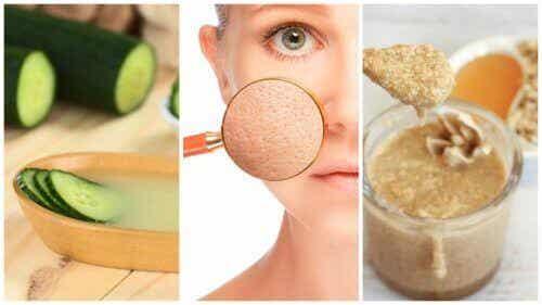 Pienennä ihohuokosia 5 luonnollisella hoidolla