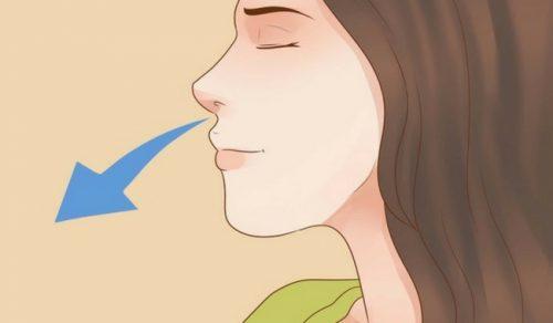 hengittäminen nenän kautta