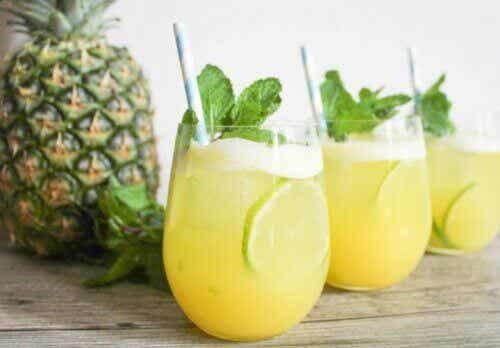 Ananasveden kuusi terveyshyötyä