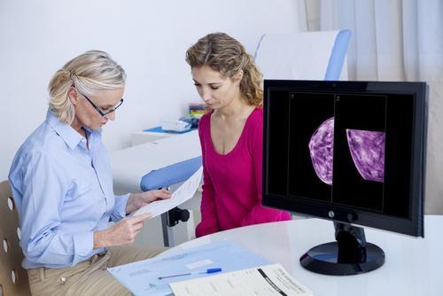 Lääkäri selittää sinulle mammografiatutkimuksen tulokset.
