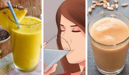 5 herkullista kasviproteiineja ja kuitua sisältävää vegaanismoothieta