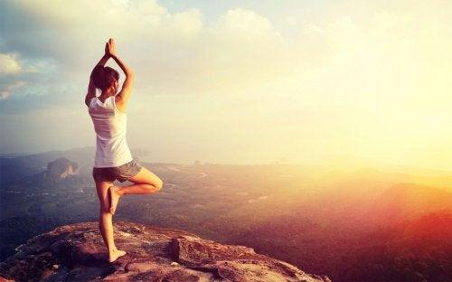 yoga on the mountain