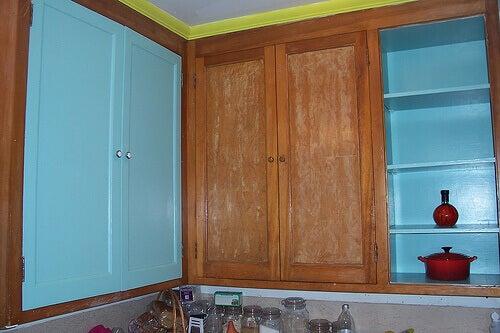 keittiökaapit maalauksessa