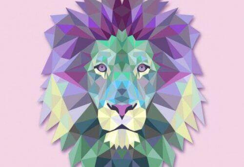 värikäs leijona