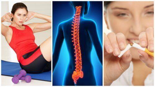 8 vinkkiä saadaksesi terveen, vahvan selkärangan