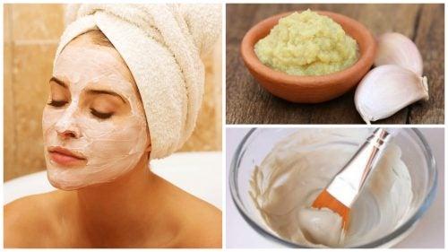 Valkosipulinaamio puhdistaa ja uudistaa kasvojen ihoa