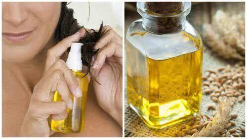 Vehnänalkioöljyn hyödyt hiuksille