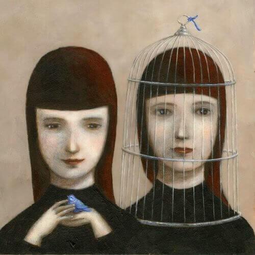 Ofra Amit kaksi tyttöä ja lintu