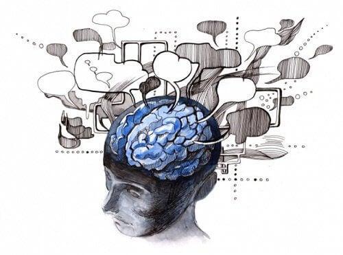 aivoista lähtee puhekuplia kun ihmisellä on tapana ajatella ääneen