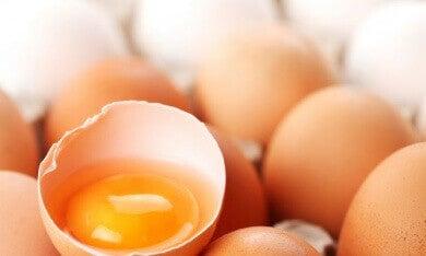 kananmunasta luonnollista hiustenhoitoainetta