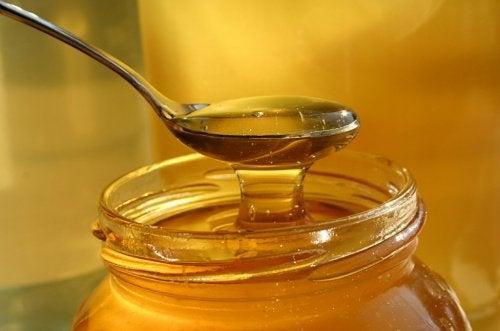 hunajalla hoidat mahakatarria