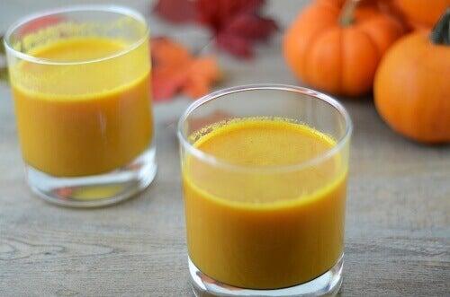 kurpitsa-porkkanamehu immuniteetin vahvistamiseksi
