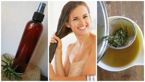 Vahvista hiuksia kotitekoisella yrttihoitoaineella
