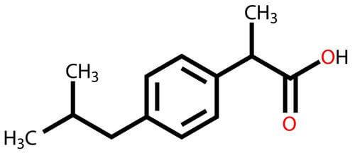 ibuprofeenin kaava