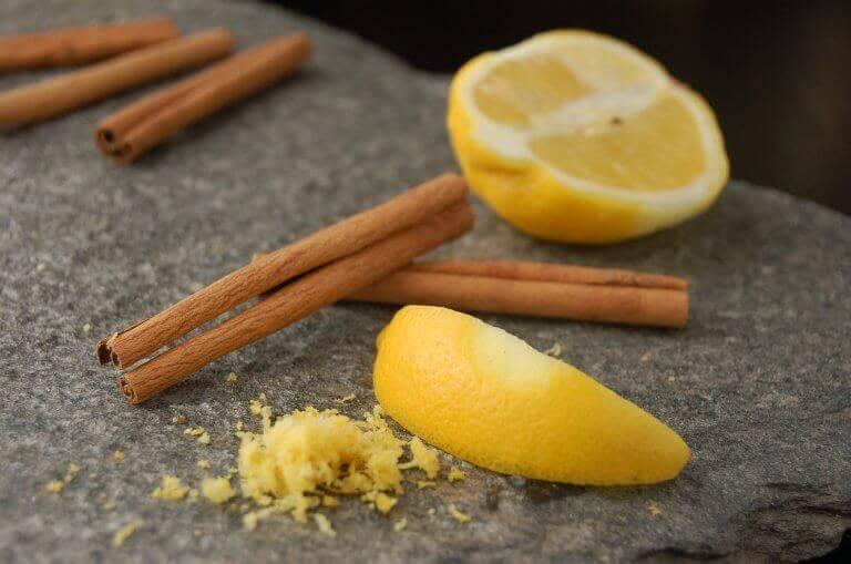 Sitruuna ja kaneli on loistava yhdistelmä, joka auttaa moneen vaivaan.