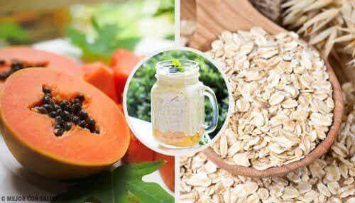 Smoothie ruoansulatusjärjestelmän tasapainottamiseen