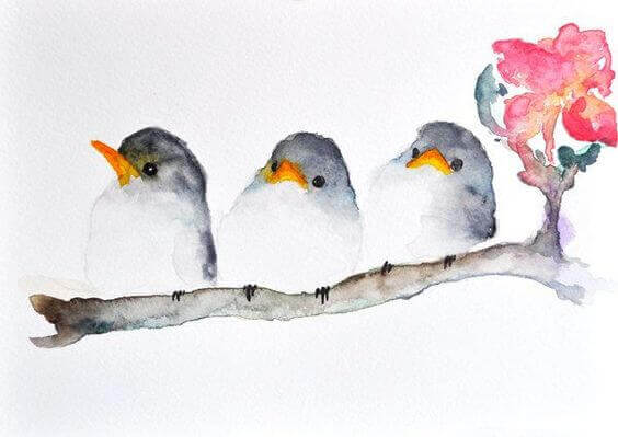 kolme pikkulintua