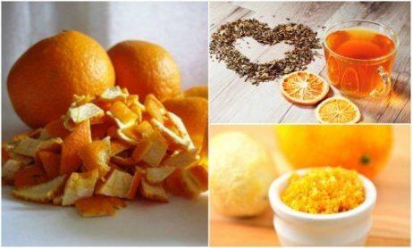 5 vaihtoehtoista käyttöä appelsiininkuorelle