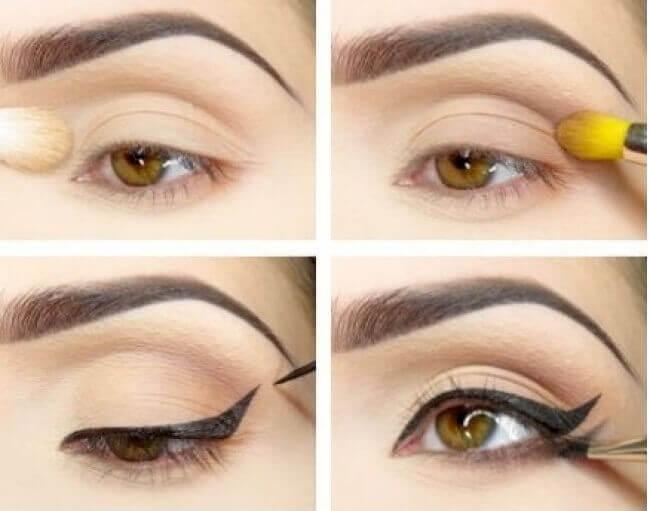 kaksoisrajaus eyelinerilla