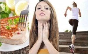 oikea ruoka ja liikunta kilpirauhasen toiminnan parantamiseksi