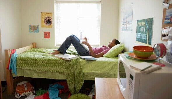 siivoamalla makuuhuoneesta terveellisempi