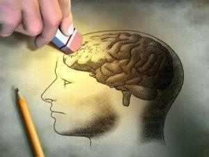 osa aivoista pyyhkiytyy pois