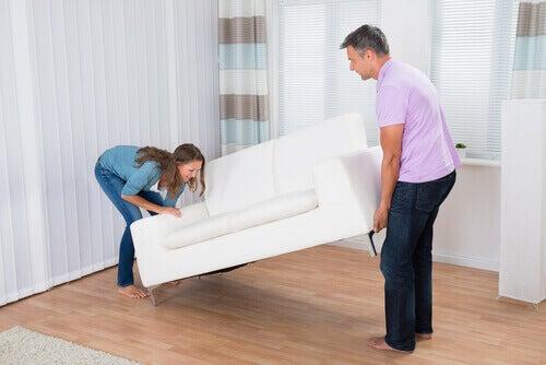 sohvan nostelu