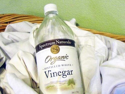 Viinietikka on ekologinen tapa valkaista vaatteet.