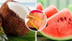 kookos ja vesimeloni polttavat tehokkaimmin rasvaa