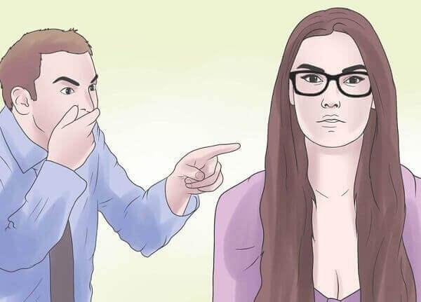 mies pilkkaa naista: sanallinen väkivalta parisuhteessa