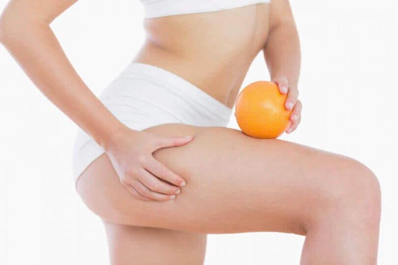 appelsiini-iho ja oikea appelsiini