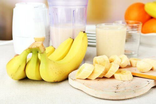 banaanit ja smoothie