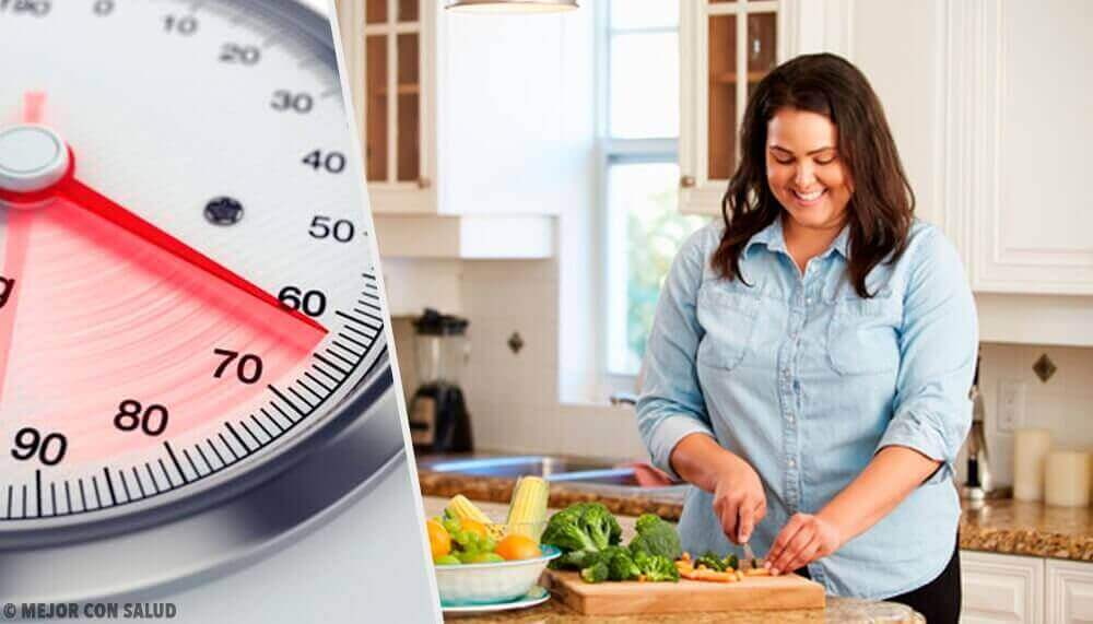 nainen on dieetillä