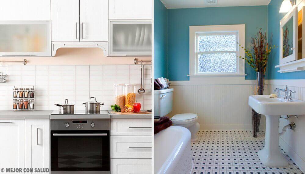 Kotihoitokeinot keittiön ja kylpyhuoneen hajuihin