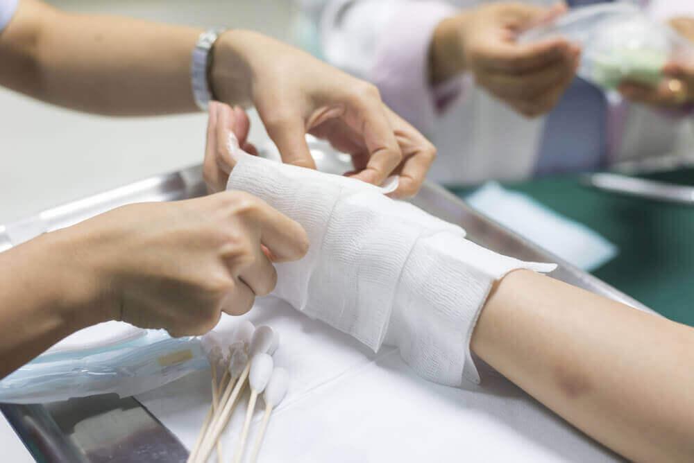 palovammojen hoito sairaalassa