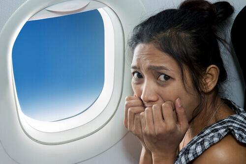 paniikkikohtaus lentokoneessa